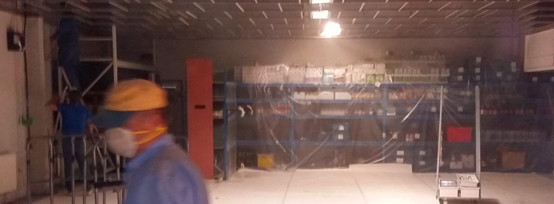 Vernieuwing plafond voedselbank Best