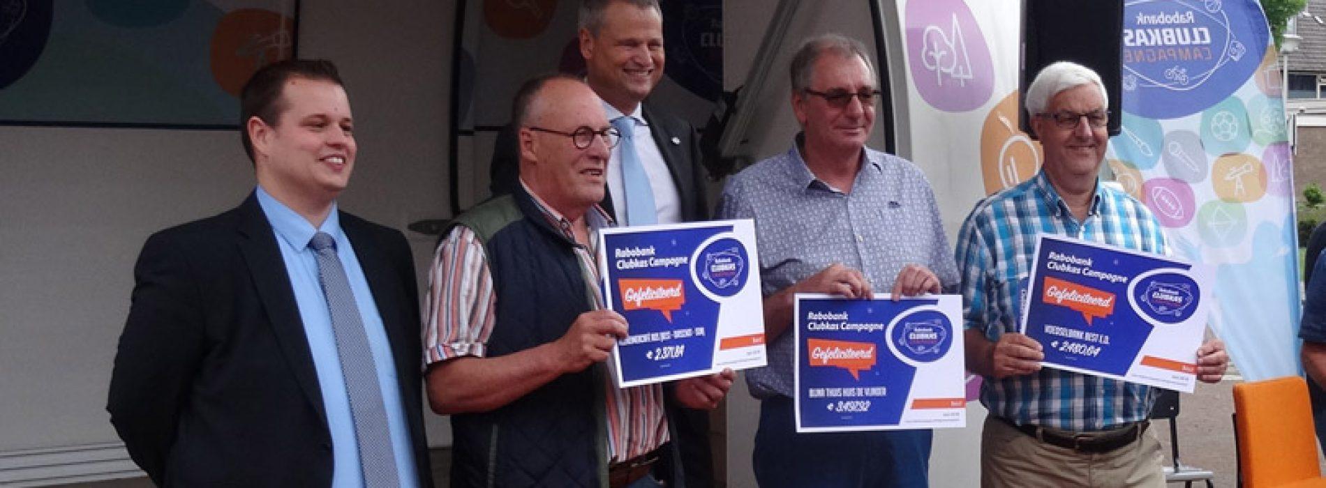 Uitreiking prijzen Rabobank Clubkas Campagne
